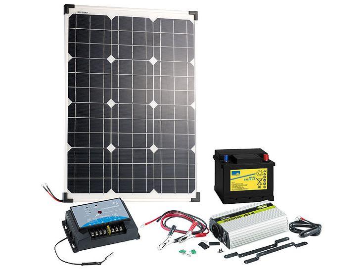 Superb revolt Solarpanel W mit Blei Akku Laderegler u Wechselrichter revolt Solaranlagen LadereglerGartenGarden