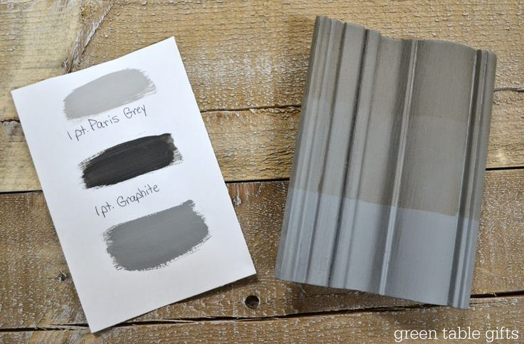 Chalk Paint® mix of Paris Grey & Graphite with clear wax, 50/50 wax, and dark wax. Follow Green Table Gifts on Facebook for Mixology Monday! #chalkpaint #colormix #grey