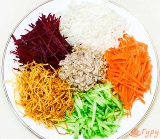 Как приготовить салат Гайрат (французский) - кулинарный рецепт.