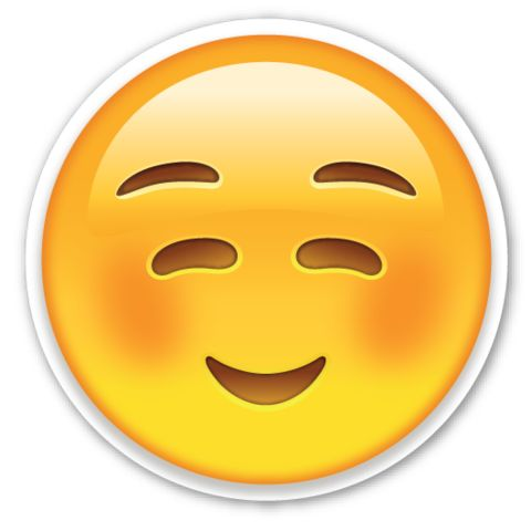 White Smiling Face | EmojiStickers.com