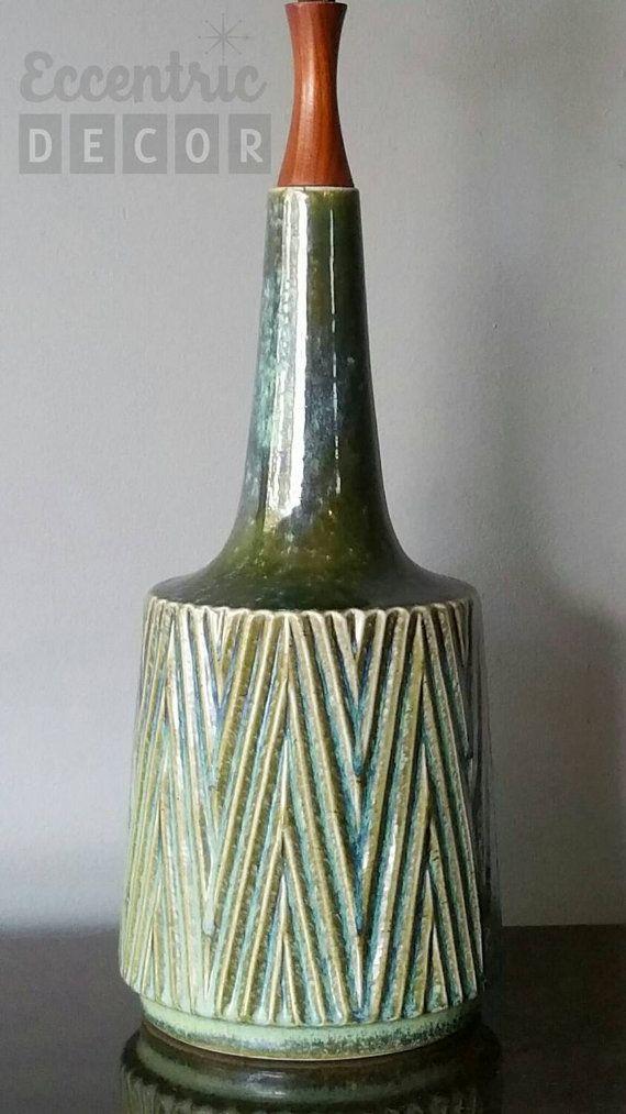 Vintage Mid Century Modern Ceramic Mad Men Danish Style