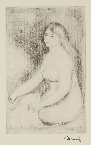 Pierre-Auguste Renoir, Baigneuse Assise on ArtStack #pierre-auguste-renoir #art