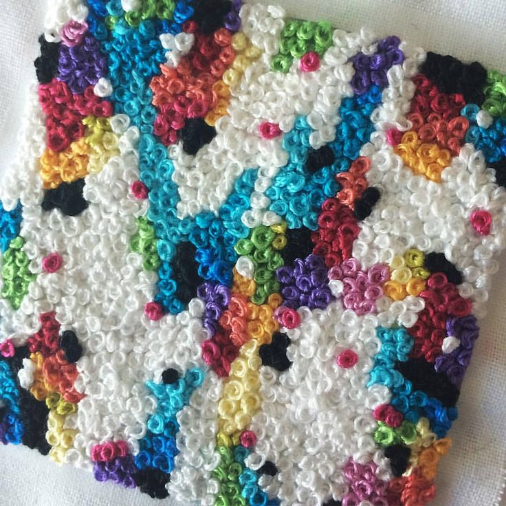 French knot party cross stitch thread embroidery