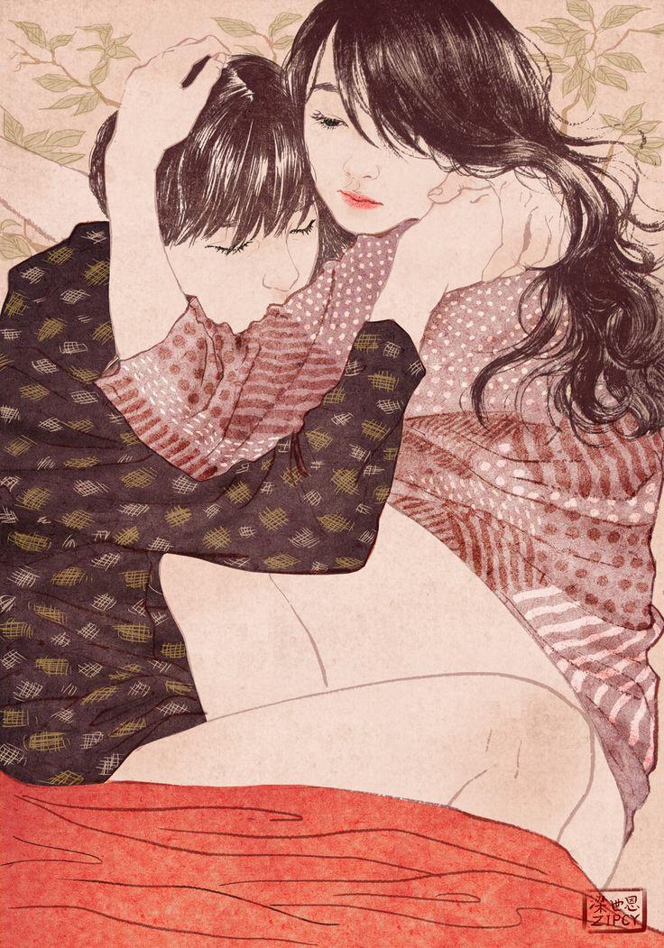 항상 나를 안아주는 듬직한 그가,가끔 내 턱밑으로 파고 들어와 아기같이 웅크린 채로 날 꼭 안고 잠이 들 때가 있다.