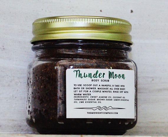 Vegan Body Scrub THUNDER MOON Body Scrub Organic Body Scrub