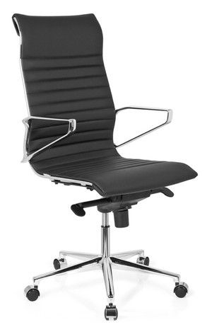 383,- Bureaustoel / directiestoel PARIBA H1 echt leder, zwart - (thuis) Kantoor Bureaustoelen - Luxe bureaustoelen -Bureaustoel 24 | Online Bureaustoelen Kopen – Bureau Stoelen, Bureau Stoel