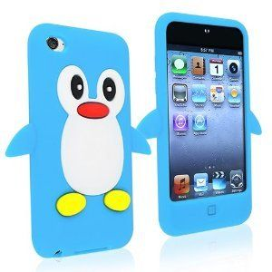 Light Sky Blue Penguin Style Case Back Cover For Apple iPod Touch 4TH Gen Generation 4 4G - SKS Distribution®