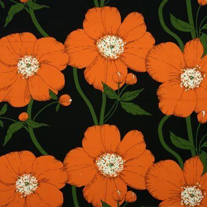 Porin Puuvilla fabric design by Raili Konttinen (1974)