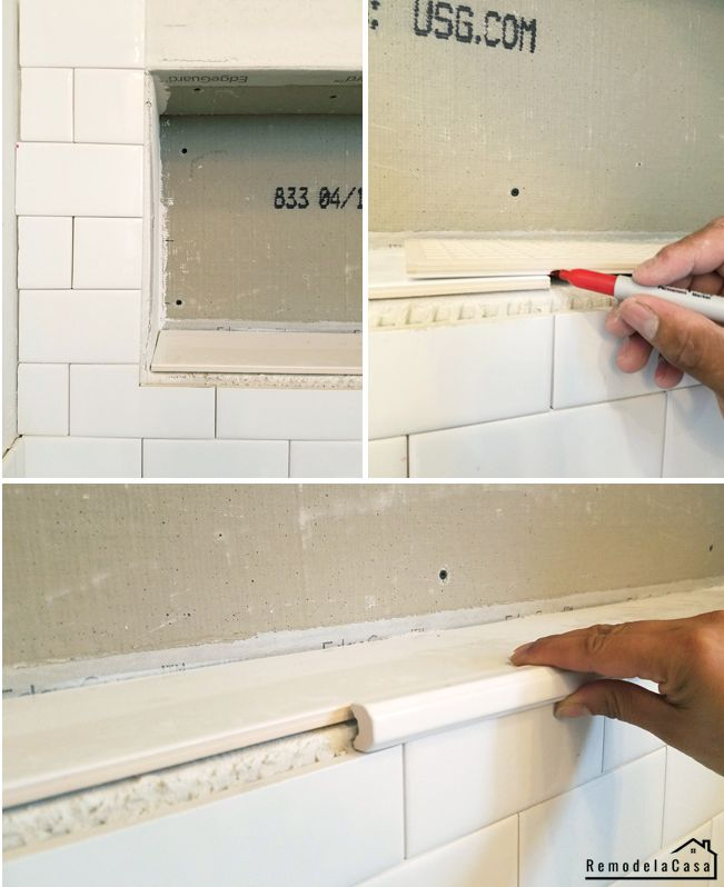 How To Install Tile On Wall Niche Bathroom Renovation Tile