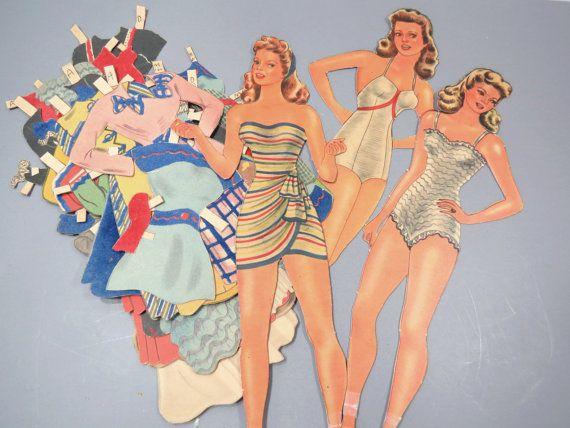 Carta vintage 1940s carriera ragazze di UrbanRenewalDesigns