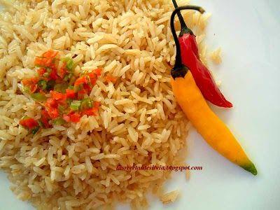 Arroz graneado blanco y arroz graneado dorado