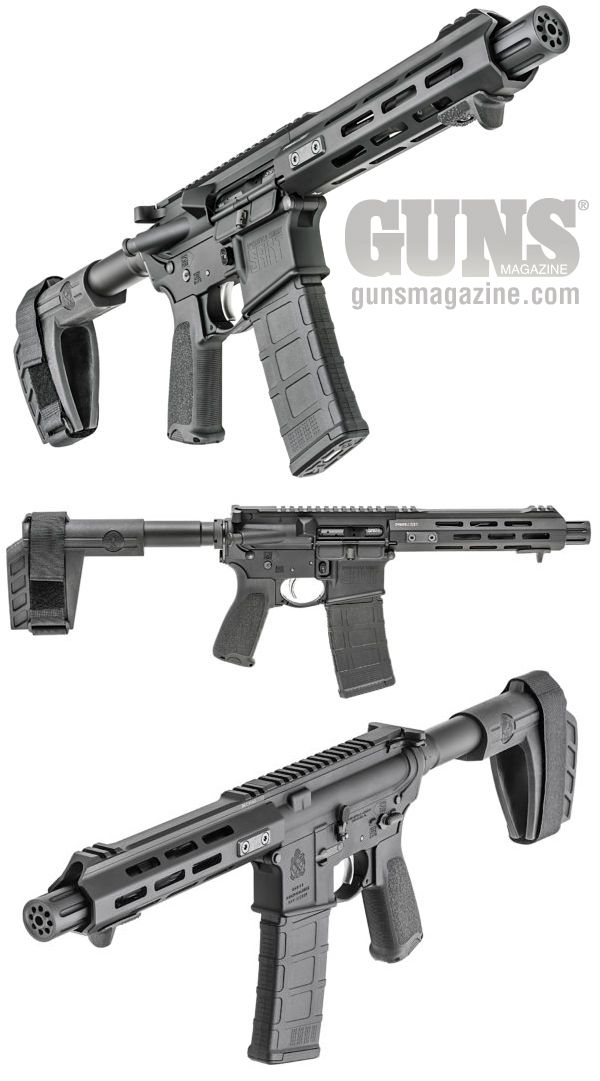 EXCLUSIVE: Springfield SAINT AR Pistol   By Michael O. Humphries   The new Springfield Armory pistol may not be what you expected, but it certainly packs a lot of punch!   © GUNS Magazine 2017