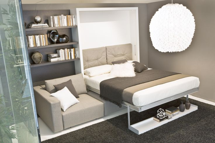 17 best ideas about murphy bed with couch on pinterest hidden bed murphy bed desk and murphy beds. Black Bedroom Furniture Sets. Home Design Ideas