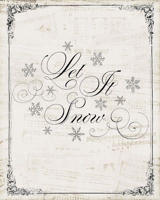 December Printable: Let it Snow ~ Everything Home Magazine