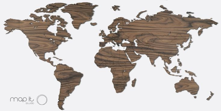 Stunning World Maps Made From Wood