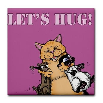 Chubby Hugs, Bucky Katt and the Ferret. Sweet.