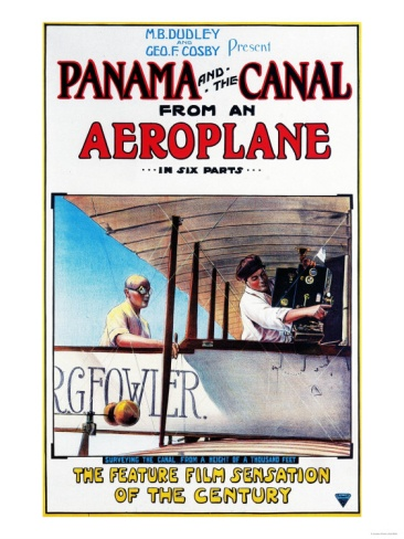 Panama - Panama and the Canal Aeroplane Movie Promo Poster