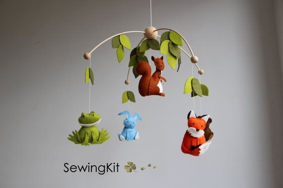 baby mobile woodland woodland baby mobile diy crib by TinyLuck