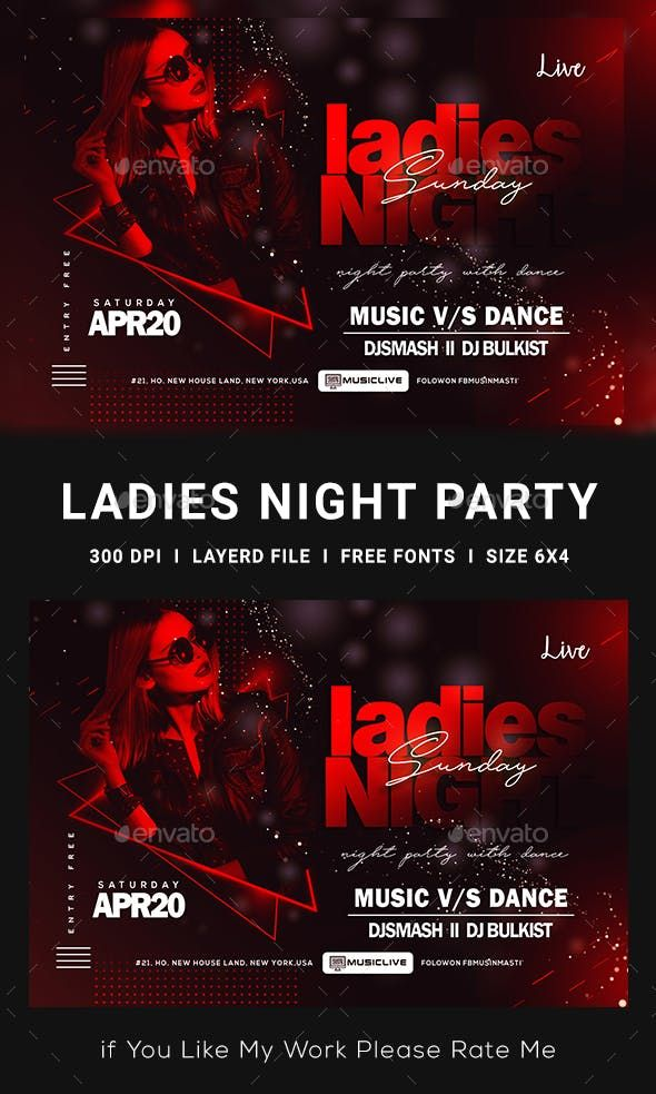 Ladies Night Club Flyer Template PSD | Party Poster | Club