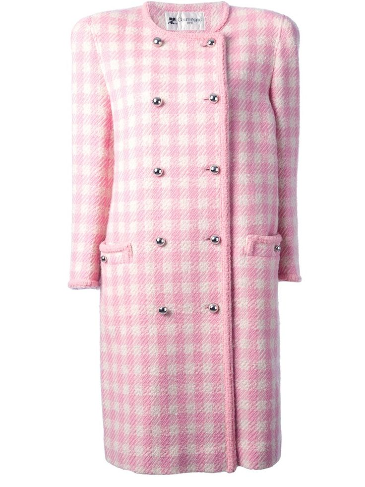 Pink houndstooth coat: Things Houndstooth, Courrèg Vintage, Courreg Vintage, Vintage Wardrobe, Vintage Houndstooth, Jammi, Houndstooth Coats, Vintage Worn, Pink Houndstooth