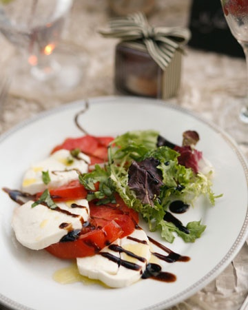 Limit Your Courses: Your menu can consist of an appetizer, an entree, and a dessert (the last could even be the wedding cake).    And that salad looks Amazing.