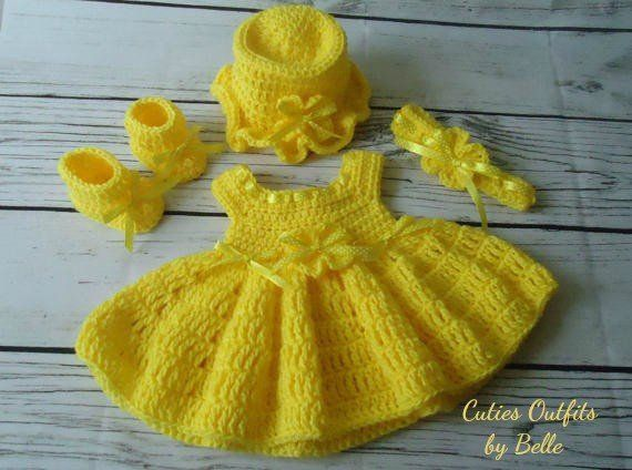 Baby clothes//dress Newborn handmade