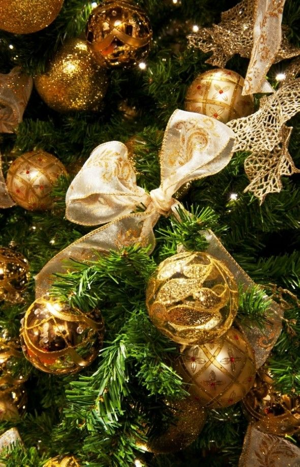 Christmas Tree Decors, Giltter Ornaments