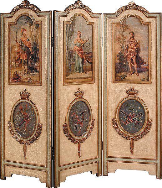 Antique dressing screen room divider afbeeldingen