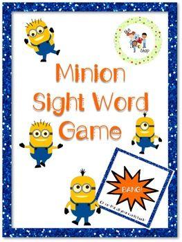 Minion Sight Word Game