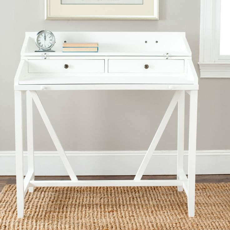 Small White Writing Desk - Rustic Living Room Furniture Sets Check more at http://www.gameintown.com/small-white-writing-desk/