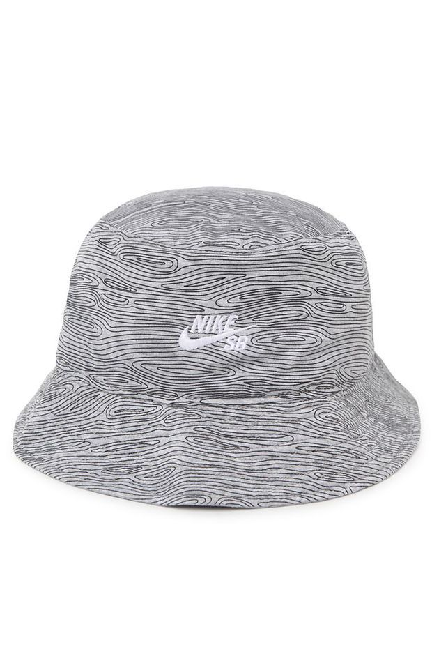 Nike SB Woodgrain Bucket Hat - Mens Backpack - Gray - Large