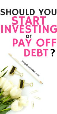 Investing VS Paying off debt is an interesting debate. To really meet your financial goals you need to either have a ton of money or have no debt. Let's figure out which one is best for you.