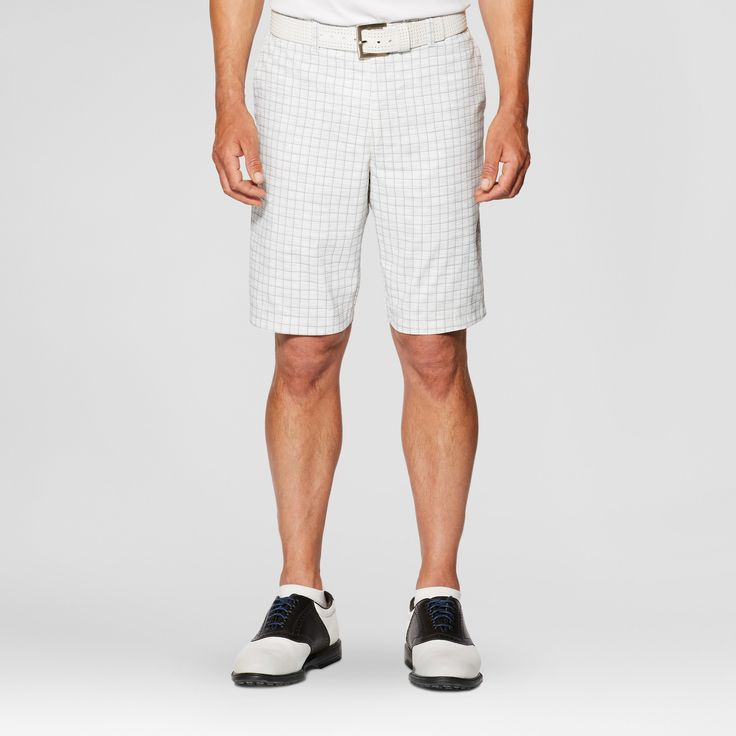 Jack Nicklaus Men's Windowpane Golf Shorts - White 34, Gray White