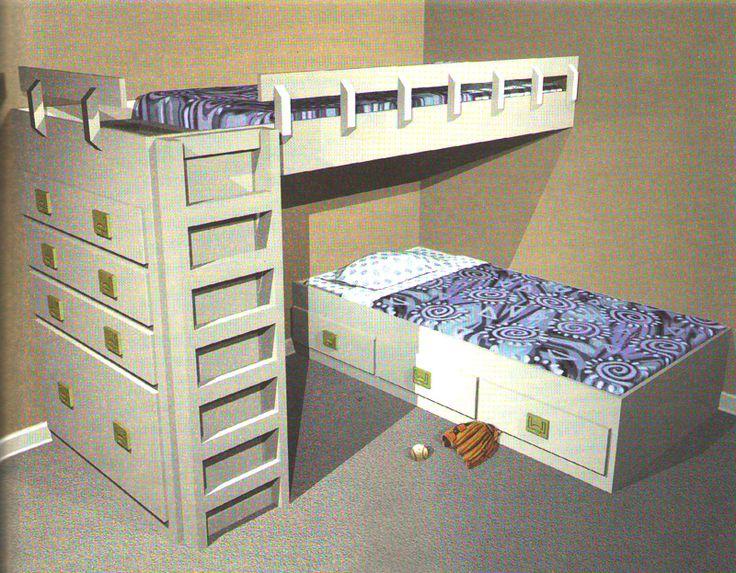 Картинки по запросу двухъярусная кровать своими руками