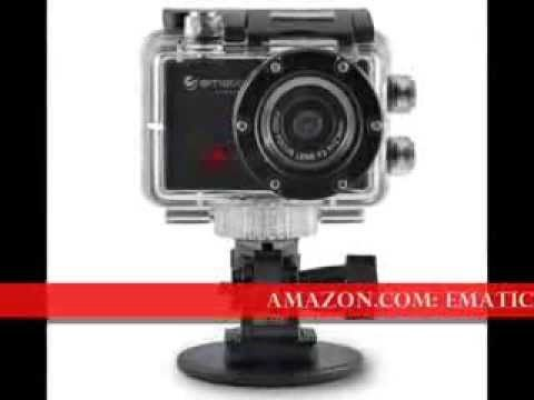 Full HD Waterproof Touchscreen Action 5MP Camera Ematic SportsCam 1080p ...