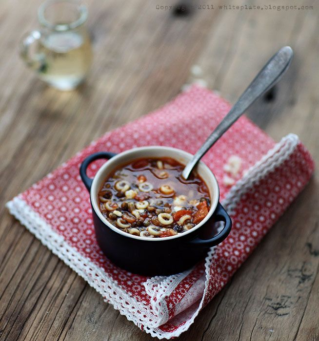 Winter Soup With Lentil And Pasta
