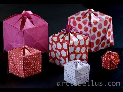 Origami Flowery Box - YouTube