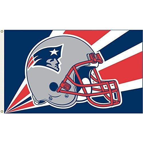 Nfl Patriots Flag 3x5 Football Themed Team Color Logo Outdoor Hanging Banner FlagGift FanFan Merchandise Athletic Spirit Blue Red Silver White Nylon