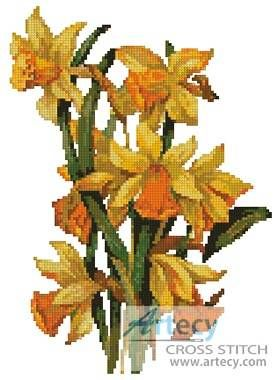 cross stitch pattern daffodil | keywords daffodil daffodils flowers more designs by tereena clarke ...