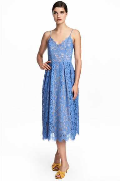Lace dress - Blue - | H&M