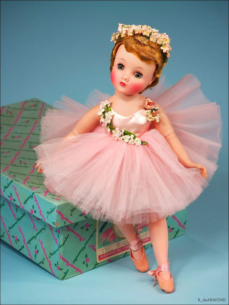 """Elise 1957 #1635 Ballerina Variation 16-1/2"""" (MIB)"""