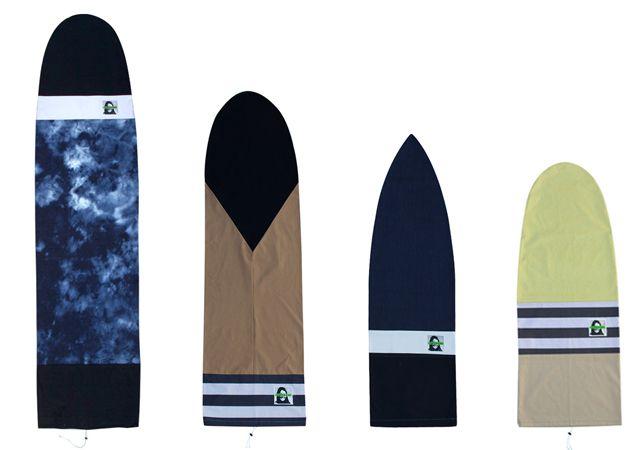 DIY Surfboard Bags with Green Fuz | Seea