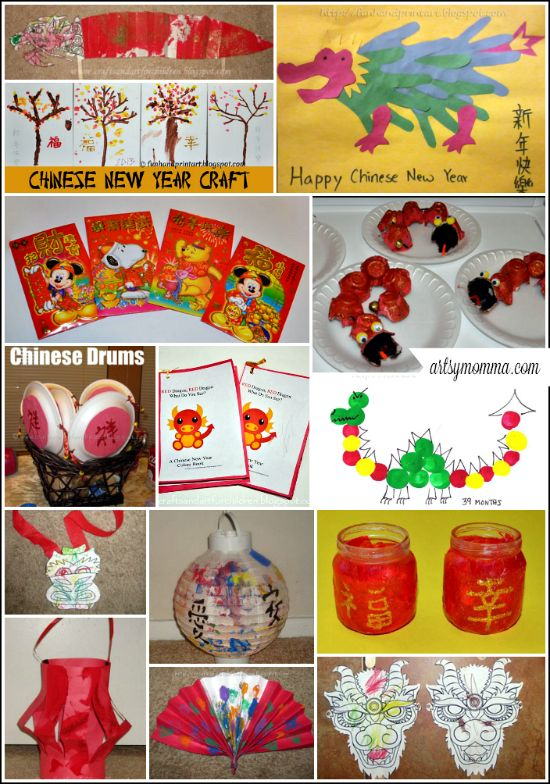 Chinese New Year Crafts for Kids Playdate or Party