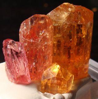 Orange Sapphire natural crystal   PINK Orange YELLOW Golden Imperial Topaz Terminated Gemstones Crystals