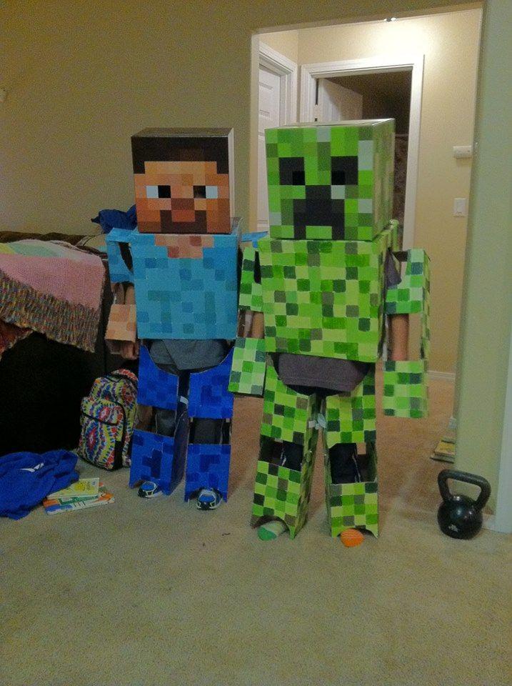 Homemade Minecraft Costume | Homemade Minecraft Costumes!