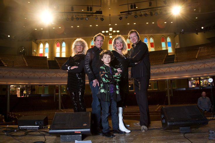 The Walters Family on stage at The Ryman Auditorium, Nashville, TN.