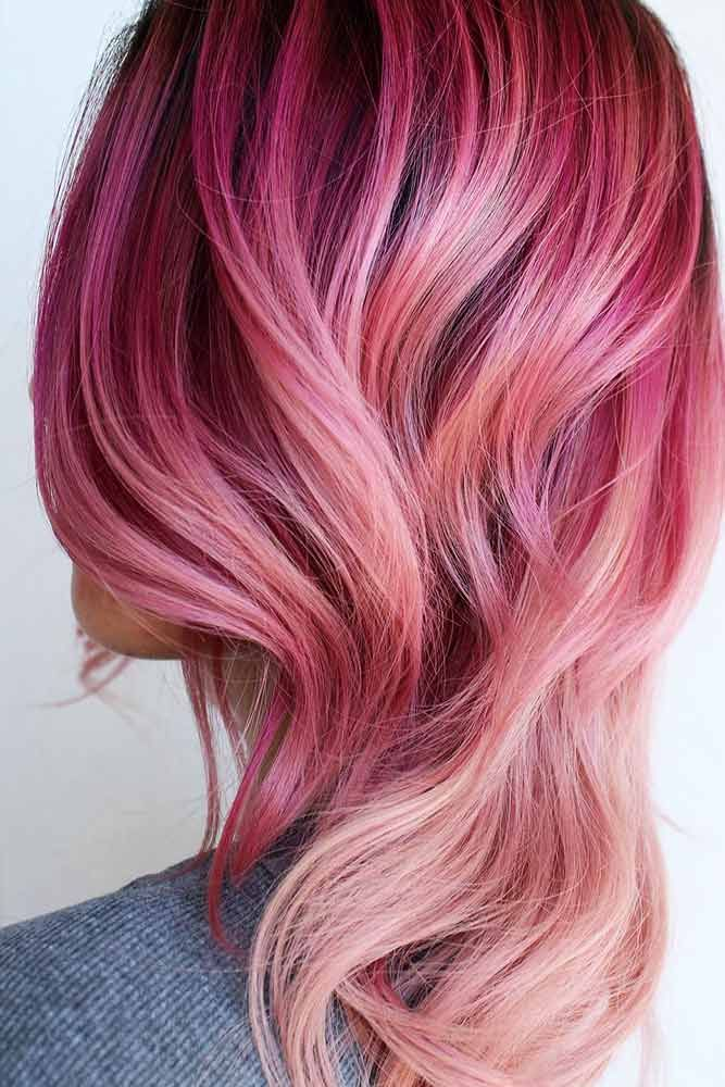 Best Hairstyles   Haircuts for Women in 2017   2018   21 Breathtaking Rose  Gold Hair 54eb01dae446