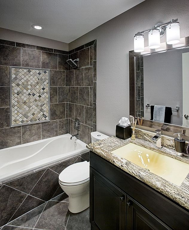 find this pin and more on tile and granite bathrooms - Granite Bathroom Designs