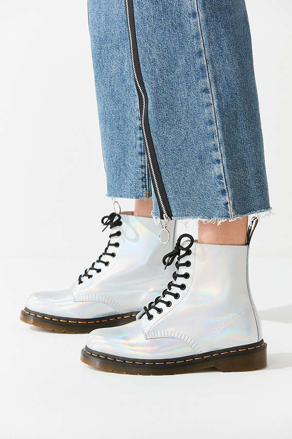 2995fe46af81 Slide View  3  Dr. Martens Pascal Iced Metallic Silver Lazer Boot