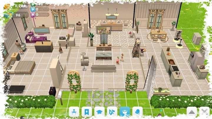 No The Sims Mobile Alguns Dos Itens So Podem Ser Obtidos Depois De Atingir Um Determinado Nivel Voce Vai Des Sims House Sims House Plans Sims Freeplay Houses